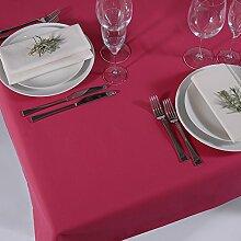 Einfarbige Tischdecke pink rechteckig 150x250cm, Mischgewebe, Original APART Made in Germany