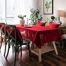 Einfarbige Tischdecke Stoff Art Staubdichte