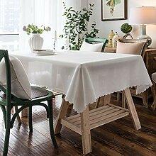 Einfarbige Tischdecke Stoff Staubdichte Tischdecke