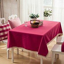 Einfarbige tischdecke Wasserdichte tischdecken Tischtuch Einfacher moderner rechteckige tee-tisch tuch Quadratische tischdecken-D 90x140cm(35x55inch)
