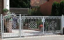 Eingangsanlage Gartentor Hoftor Tor Metall Schmiedeeisen Monaco-GFT500/100 Verzinkt PREMIUM Einfahrtstor 500 x 100 cm