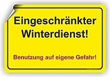 EINGESCHRÄNKTER WINTERDIENST - Winterdienstschilder / WI-002 (45x30cm Aufkleber)