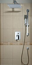 Einhand-Duschbatterie Unterputz mit Brausegarnitur Dusch-Armatur Unterputz Chrom MODERNES DESIGNE! SYS PM16