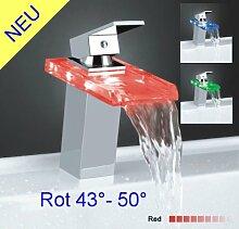 Einhebel Armatur Wasserhahn LED Licht Wasserfall