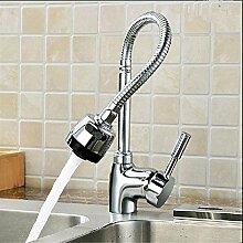 Einhebel voll Kupfer 360 Grad schwenkbare Wasserhahn heißen und kalten Küche Waschbecken Waschbecken Wasserhahn, kleine Basis