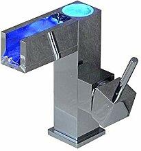 Einhebel-Wasserfall-Waschtischarmatur mit