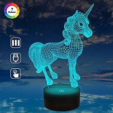 Einhorn-3D-Lampe