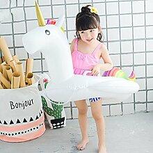 Einhorn Baby Flamingo Kinder Einhorn Schwimmen Ring Trainer Wasser Float Sitz aufblasbares Schwimmbecken Float Spielzeug aufblasbar Pool Raft Baby für Kinder genießen Spielen auf Wasser, Einhorn