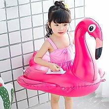 Einhorn Baby Flamingo Kinder Einhorn Schwimmen Ring Trainer Wasser Float Sitz aufblasbares Schwimmbecken Float Spielzeug aufblasbar Pool Raft Baby für Kinder genießen Spielen auf Wasser, Flamingo