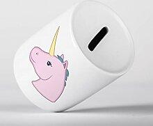 Einhorn Emoji rosa Tier Spardose Spardose Einhorn