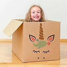 Einhorn Face Schablone Kinderzimmer Kinder Stil