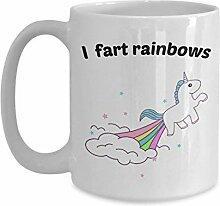 Einhorn Farting Tasse–I FART rainbows- Funny