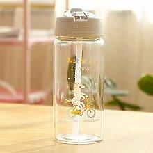 Einhorn Glas Wasserflasche Für Kinder Mit