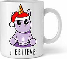 Einhorn I believe   Tolle Geschenkidee für Einhorn-Fans   Schöne Kaffee-Tasse von Shirtinator®