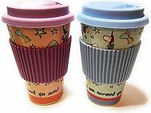 Einhorn Kaffeebecher to go - Bambusbecher (Farbe