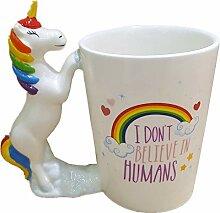 Einhorn Keramik Becher Geformt Kaffee Tasse