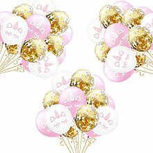 Einhorn Konfetti Luftballon,15 Stück Rose Gold