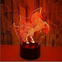 Einhorn lava lampe cartoon 3d nachtlicht usb led
