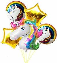 Einhorn-Luftballon Regenbogen-Strauß Motto Party