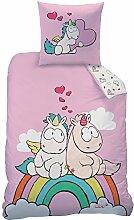 EINHORN NICI Bettwäsche Set für Mädchen &