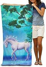 Einhorn Pferd Erwachsene Schwimmen Handtuch