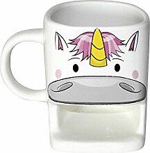 Einhorn Tasse mit Keksablage/Unicorn Cookie Cup
