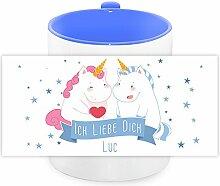 Einhorn-Tasse mit Namen Luc und schönem