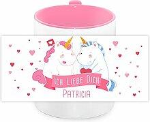 Einhorn-Tasse mit Namen Patricia und schönem