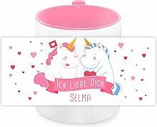 Einhorn-Tasse mit Namen Selma und schönem