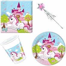 Einhorn Unicorn Pony Set Geschirr-Set