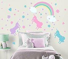 Einhorn Wand Sticker pastel- Mädchen Room Decor