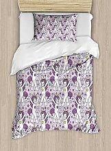 Einhornparty Twin Size Bettbezug-Set, tanzen