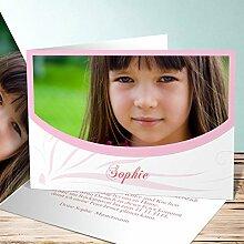 Einladung Einschulung, Federmappe 35 Karten, Horizontale Klappkarte 148x105 inkl. weiße Umschläge, Ro