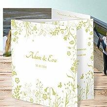 Einladung Hochzeitskarten, Sophias Garten 110 Karten, Doppelklappkarte 145x145 inkl. weißer Umschläge, Braun
