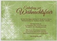 Einladungskarten Weihnachtsfeier (10 Karten)
