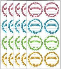 Einmachglas-Etiketten, rund, 5,1 cm, 240