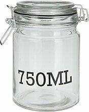 Einmachglas mit Bügelverschluss - 750 ml - 10 x