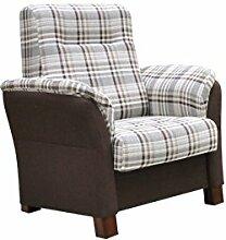 Einsitzer Sessel Avanti Polstersessel Relaxsessel Loungesessel Farbauswahl Sitzmöbel Modern Wohnmöbel (Bristol 2452 + Senegal 808)