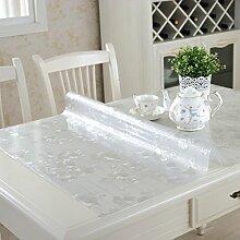 Einstellbar,Falte,Ovale Tischdecke/Transparent,PVC,Weichglas,Wasserdichte Tischmatte/Kristall-teller,Wasserdichtes Öl,Einweg-tischdecke-E 81x135cm(32x53inch)