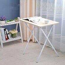 einstellbar Klapptisch Tisch kleiner Tisch Bett mit Laptop Schreibtisch 4 Farben erhältlich Größe optional Kann gedreht werden ( Farbe : A )