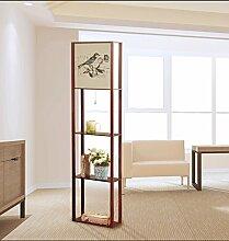 Einstellbar Stehlampe Das Wohnzimmer ist einfach und modern amerikanischen Stil hölzerne Regale Beleuchtung ohne Lichtquelle Elegan