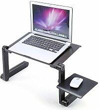 Faltbar Laptoptisch Notebooktisch Betttisch PC Laptop Ständer Klapptisch grün A+
