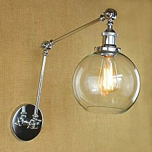 Einstellbare Schwenkarm Laterne Wandlampe, Retro
