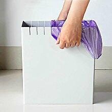 Einstufung Abfalleimer Kunststoff Kreativ Keine Deckung Mülleimer zum Küche Bad Wohnzimmer Beige