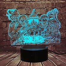 Einteilige Cartoon-Lampe für Jungen-Schlafzimmer,