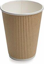 Einweg-Becher für Kaffee und Tee, geriffelte