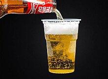Einweg-Bierbecher, Kunststoff, für Partys,
