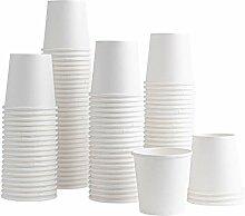 Einweg-Kaffeebecher aus Papier, 170 ml, für