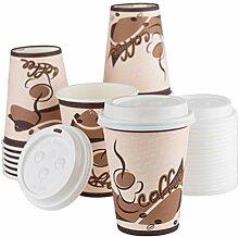 Einweg-Kaffeebecher mit Deckel, 340 ml, 20 Sets