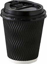 Einweg-Kaffeebecher mit Deckel, 340 ml, 50 Stück